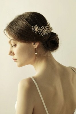 Luxury glamourous Alloy&Rhinestone Special Occasion &Wedding Headbands Headpiece with Imitation Pearls_2