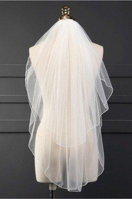 Cheap Tulle BlingBling Cut Edge 3*3M Wedding Veils_1
