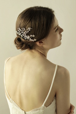 glamourous Alloy Party Combs-Barrettes Headpiece with Crystal_3