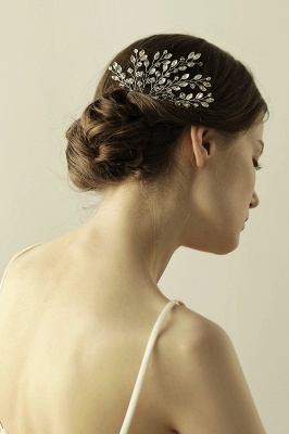 glamourous Alloy Party Combs-Barrettes Headpiece with Crystal_4