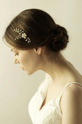 Cute Alloy Daily Wear Hairpins Headpiece with Imitation Pearls_3