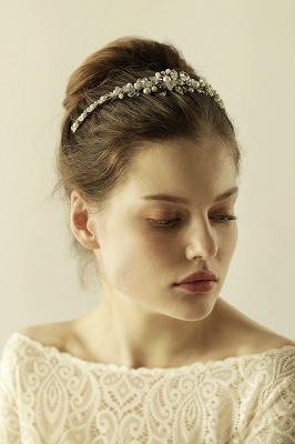 Elegant Alloy Imitation Pearls Special Occasion &Wedding Hairpins Headpiece with Crystal Rhinestone_7