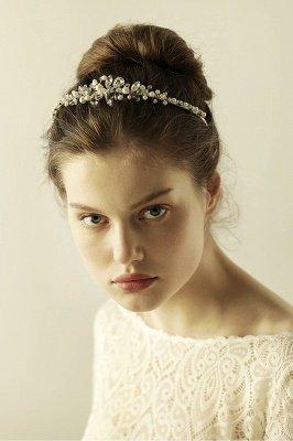 Elegant Alloy Imitation Pearls Special Occasion &Wedding Hairpins Headpiece with Crystal Rhinestone_3