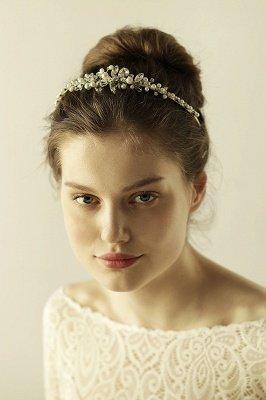 Elegant Alloy Imitation Pearls Special Occasion &Wedding Hairpins Headpiece with Crystal Rhinestone_2
