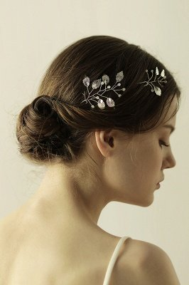 Beautiful Alloy Daily Wear Hairpins Headpiece with Imitation Pearls_8