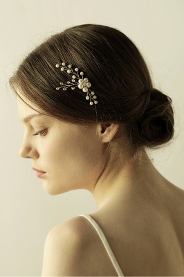 Cute Alloy Daily Wear Hairpins Headpiece with Imitation Pearls_10