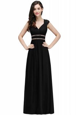 Vintage Burgundy Cap Sleeve Chiffon Long Evening Dress_7