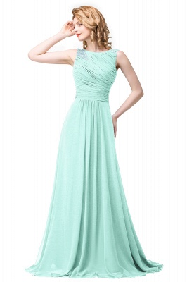 Cheap Chiffon A-line Sexy Sparkly Crystal Long Prom Evening Dress in Stock_3