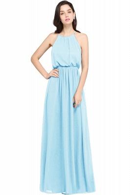 Dark Navy Halter Chiffon Sleeveless Bridesmaid Dresses | Cheap Wedding Guest Dresses_5