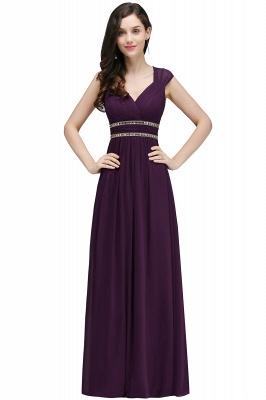 Vintage Burgundy Cap Sleeve Chiffon Long Evening Dress_3