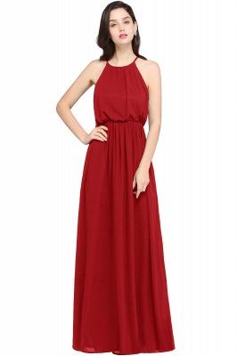 Dark Navy Halter Chiffon Sleeveless Bridesmaid Dresses | Cheap Wedding Guest Dresses_1