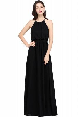 Dark Navy Halter Chiffon Sleeveless Bridesmaid Dresses | Cheap Wedding Guest Dresses_7