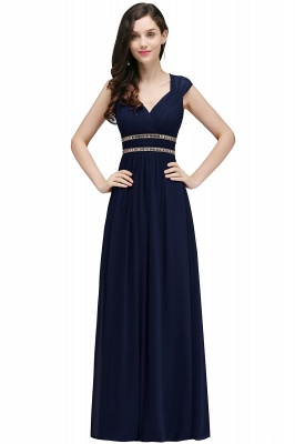 Vintage Burgundy Cap Sleeve Chiffon Long Evening Dress_6
