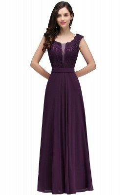 Elegant Lace A-line Long Burgundy Prom Dress_3