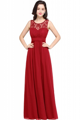 CHELSEA | Cheap Long Lace Prom Dress | Afforable Chiffon Lace Evening Dress_1