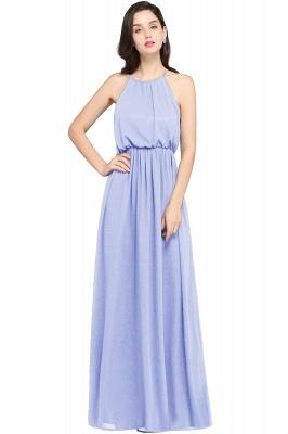 Dark Navy Halter Chiffon Sleeveless Bridesmaid Dresses | Wedding Guest Dresses_4