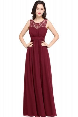 CHELSEA | Cheap Long Lace Prom Dress | Afforable Chiffon Lace Evening Dress_2