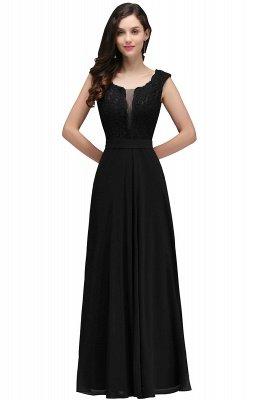 Elegant Lace A-line Long Burgundy Prom Dress_6
