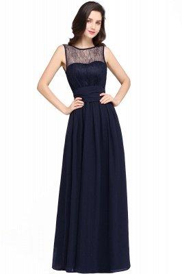CHARLOTTE  Floor-length Black Chiffon Sexy Prom Dresses | Black Evening Dresses_5
