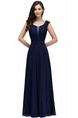 Elegant Lace A-line Long Burgundy Prom Dress_5