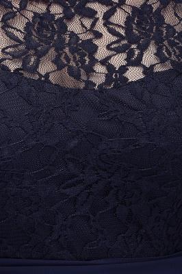 Elegant A-line  Lace Scoop Half-Sleeve Floor-Length Bridesmaid Dress_6