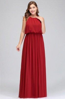 Burgundy Plus Size Chiffon Sleeveless Bridesmaid Dresses | Affordable Wedding Guest Dresses_8