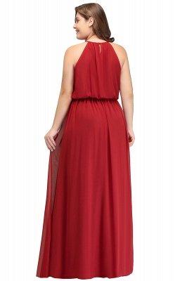 Burgundy Plus Size Chiffon Sleeveless Bridesmaid Dresses | Affordable Wedding Guest Dresses_3