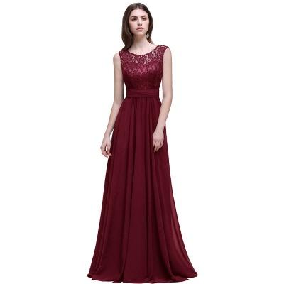 Cheap Sleeveless Lace Long Chiffon Prom Dress Online in Stock_2