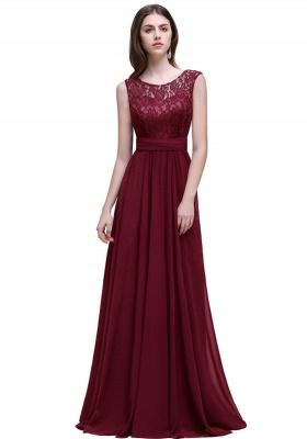 Sleeveless Lace Long Chiffon Prom Dress Online_2