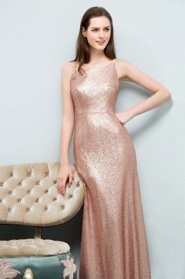 A-line Scoop Sleeveless Floor Length Sequined Prom Dresses_6