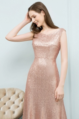 JOSELYN | A-line Floor Length Scoop Sleeveless Sequined Prom Dresses_4