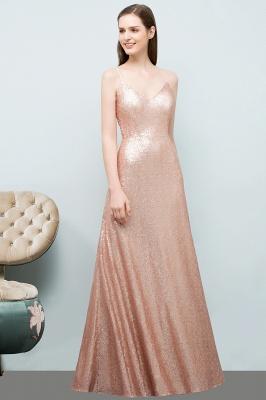 A-line Floor Length V-neck Spaghetti Sequined Prom Dresses_5