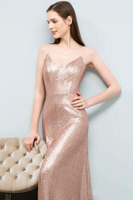 A-line Floor Length V-neck Spaghetti Sequined Prom Dresses_7