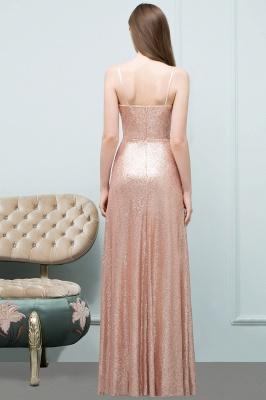A-line Floor Length V-neck Spaghetti Sequined Prom Dresses_3