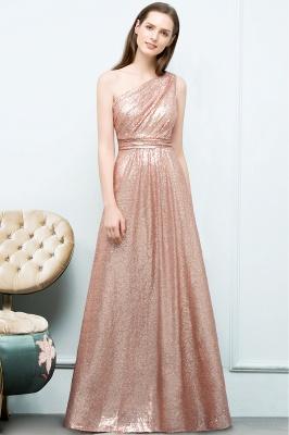 A-line One-shoulder Sleeveless Floor Length Sequins Prom Dresses_7