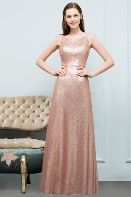 A-line Scoop Sleeveless Floor Length Sequined Prom Dresses_9