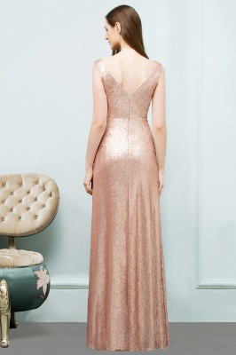 JOSELYN | A-line Floor Length Scoop Sleeveless Sequined Prom Dresses_3