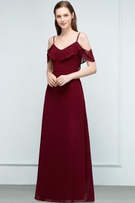 JULIANA | A-line Spaghetti Off-shoulder V-neck Long Chiffon Prom Dresses_1