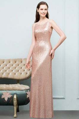 A-line Scoop Sleeveless Floor Length Sequined Prom Dresses_4