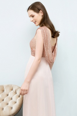 Cheap A-line Sweetheart Off-shoulder Spaghetti Long Sequins Chiffon Prom Dress in Stock_7