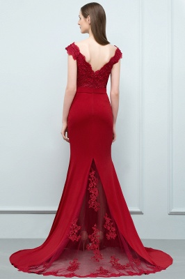 JOURNEY | Mermaid Floor Length Appliques Fitted Prom Dresses | Elegant Wedding Guest Dress_3