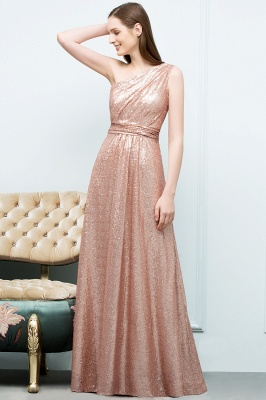 A-line One-shoulder Sleeveless Floor Length Sequins Prom Dresses_8
