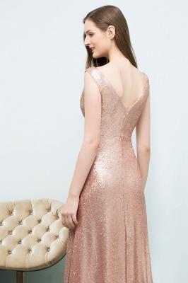 JOSELYN | A-line Floor Length Scoop Sleeveless Sequined Prom Dresses_7