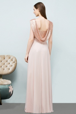 Cheap A-line Sweetheart Off-shoulder Spaghetti Long Sequins Chiffon Prom Dress in Stock_3