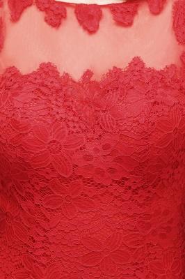 Mermaid Floor Length Illusion Neckline Sleeveless Tulle Lace Prom Dresses_6