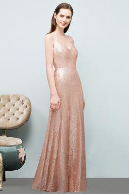 A-line Floor Length V-neck Spaghetti Sequined Prom Dresses_4