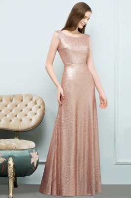 JOSELYN | A-line Floor Length Scoop Sleeveless Sequined Prom Dresses_6