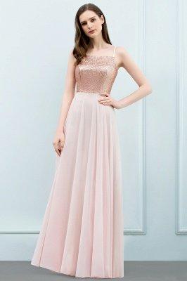 A-line  Sequined Spaghetti Straps Sleeveless Floor-Length Bridesmaid Dress_1