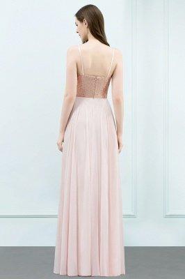 A-line  Sequined Spaghetti Straps Sleeveless Floor-Length Bridesmaid Dress_2