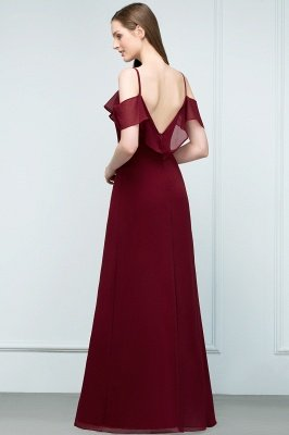 JULIANA | A-line Spaghetti Off-shoulder V-neck Long Chiffon Prom Dresses_9